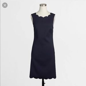 NEW Jcrew factory navy scalloped shift dress sz. 4